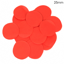 Red Tissue Paper Confetti | 25mm Round | 100g Bag